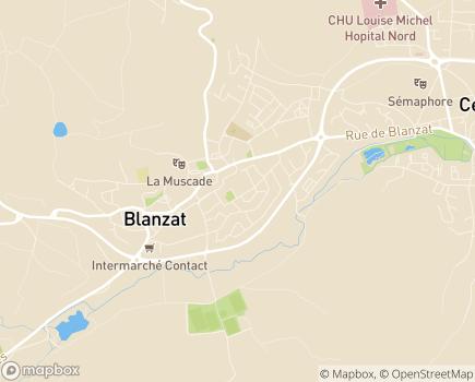 Localisation EHPAD La Fontaine - SISPA Vivre Ensemble - 63112 - Blanzat