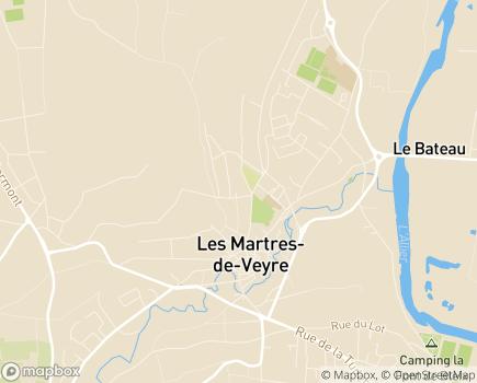 Localisation EHPAD Résidence Jolivet - 63730 - Les Martres-de-Veyre