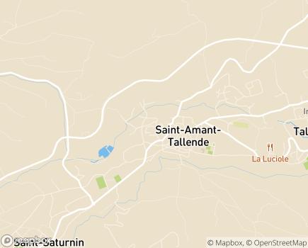 Localisation SSIAD Le Montel - 63450 - Saint-Amant-Tallende