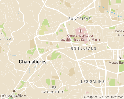 Localisation SISAD Chamalières - Royat - 63400 - Chamalières
