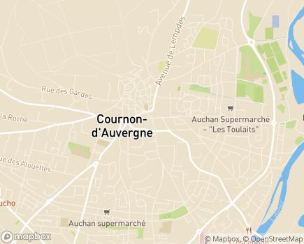 Localisation Valdom - 63800 - Cournon-d'Auvergne