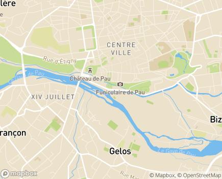 Localisation Conseil Départemental des Pyrénées-Atlantiques - 64058 - Pau