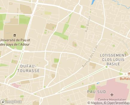 Localisation ARS Délégation Départementale des Pyrénées-Atlantiques - 64016 - Pau