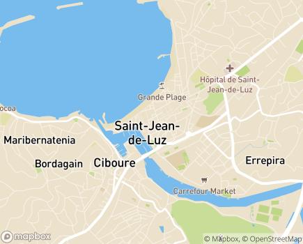 Localisation Polyclinique Côte Basque Sud - 64501 - Saint-Jean-de-Luz