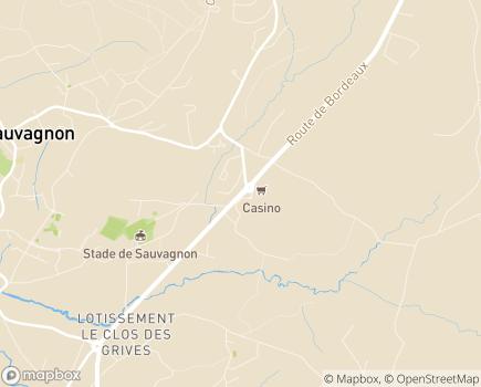 Localisation Foyer de Vie de Sauvagnon - 64230 - Sauvagnon