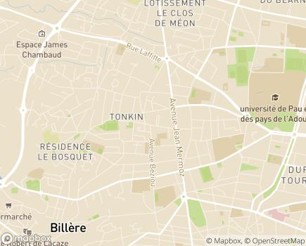 Localisation Résidence Services La Pastourelle - 64140 - Billère