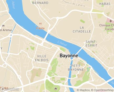 Localisation ARS Délégation Départementale des Pyrénées-Atlantiques - 64185 - Bayonne