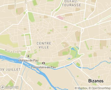 Localisation Résidence avec Services Les Girandières - 64000 - Pau