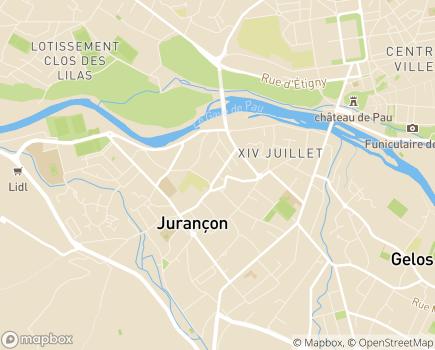 Localisation Korian Résidence Henriade - 64110 - Jurançon