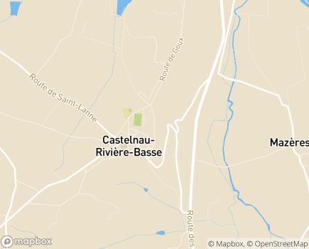 Localisation Foyer d'Hébergement - EPAS 65 - 65700 - Castelnau-Rivière-Basse