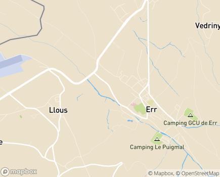 Localisation GCS Pôle Sanitaire Cerdan, Espic Transfrontalier - Pôle Gériatrique - 66800 - Err