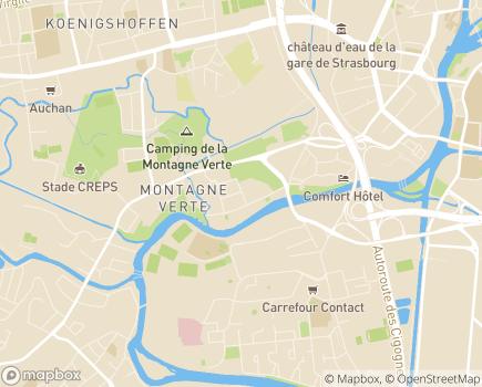 Localisation Hôpital de Jour Abrapa Montagne Verte - 67200 - Strasbourg