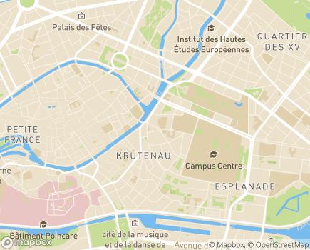 Localisation Hôpital de Jour Abrapa Saint Guillaume - 67000 - Strasbourg