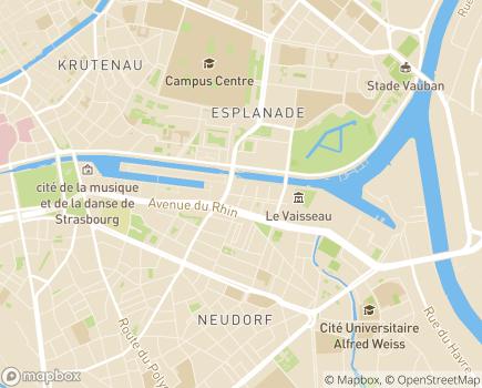 Localisation EHPAD Abrapa Danube - 67100 - Strasbourg