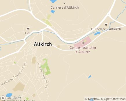 Localisation ESAT Ateliers Production - Etablissement et Service d'Aide par le Travail - 68130 - Altkirch