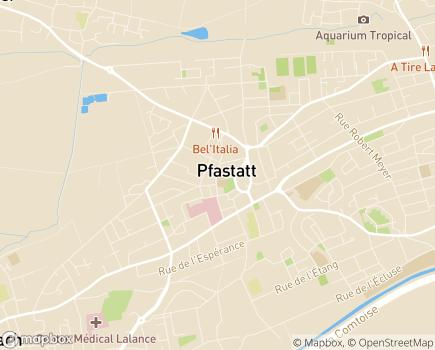 Localisation EHPAD du Centre Hospitalier de Pfastatt - 68120 - Pfastatt