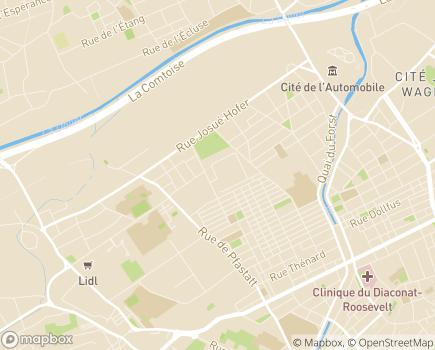 Localisation APAMAD Association pour l'Accompagnement et le Maintien à Domicile - 68060 - Mulhouse