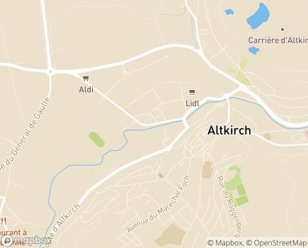 Localisation Foyer d'Accueil Spécialisé pour Personnes Handicapées Vieillissantes FASPHV / MRS - 68131 - Altkirch