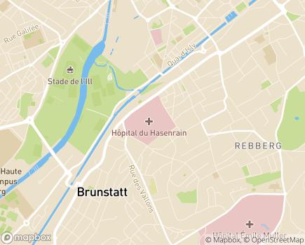 Localisation HAD Sud Alsace - 68100 - Mulhouse