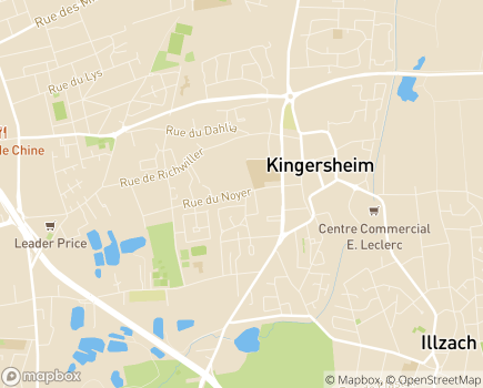 Localisation Domitys L'Organdi - Résidence avec Services - 68260 - Kingersheim