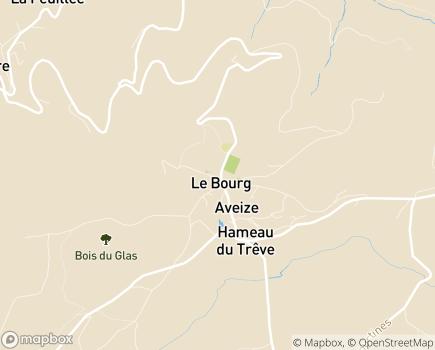 Localisation Centre Médical l'Argentière (Fondation Partage et Vie) - 69610 - Aveize