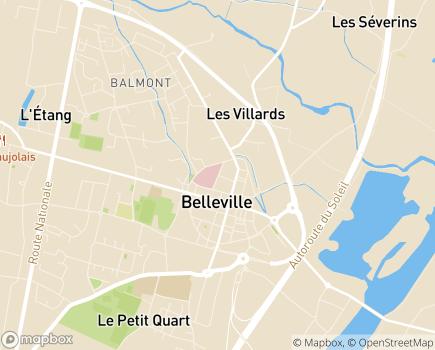 Localisation EHPAD du Centre Hospitalier de Belleville - 69220 - Belleville