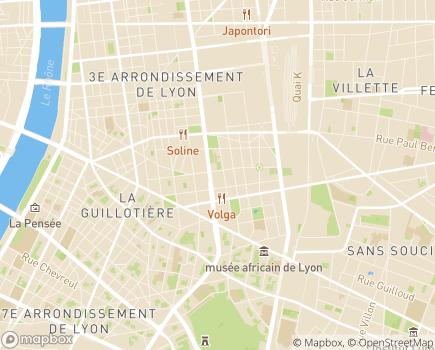 Localisation ARS Agence régionale de santé Rhône et Métropole de Lyon - 69003 - Lyon 03