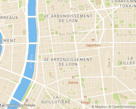 Localisation Korian Bellecombe - 69003 - Lyon 03