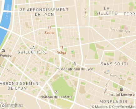 Localisation Korian Les Annabelles - 69003 - Lyon 03