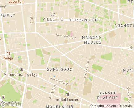 Localisation Les Jardins d'Arcadie Lyon - 69003 - Lyon 03