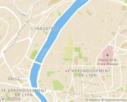 Localisation Korian Le Clos d'Ypres - 69004 - Lyon 04