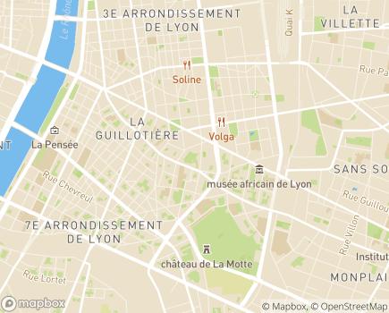 Localisation EHPAD Résidence Gambetta - 69007 - Lyon 07