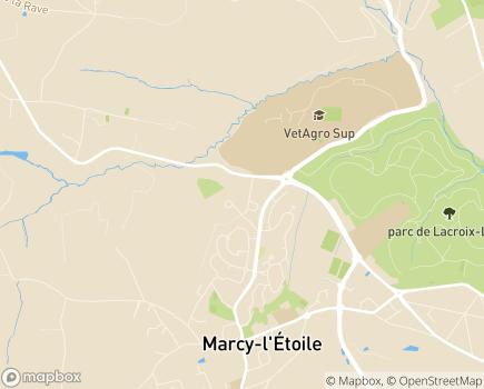 Localisation EHPAD Résidence Eleusis - 69280 - Marcy-l'Étoile