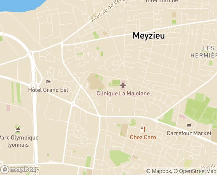 Localisation EHPAD Résidence Marguerite - 69330 - Meyzieu