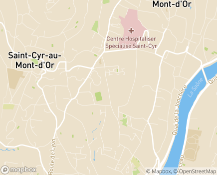 Localisation Centre de Soins de Suite et de Réadaptation La Pinède - 69450 - Saint-Cyr-au-Mont-d'Or