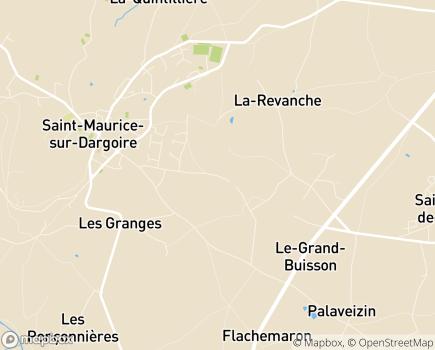 Localisation Centre Médical Germaine Revel - 69440 - Chabanière