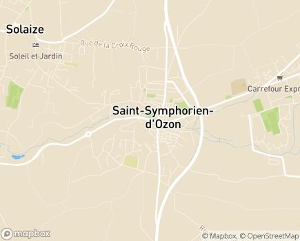 Localisation EHPAD Chateauvieux - 69360 - Saint-Symphorien-d'Ozon