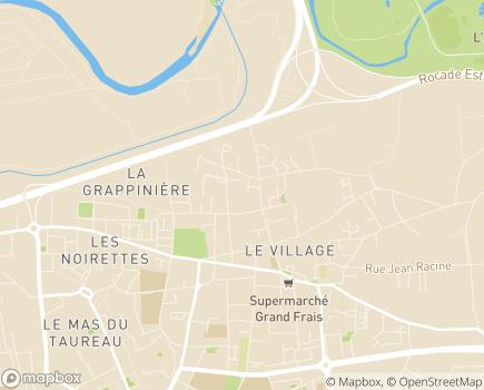 Localisation Clinique de l'Union - 69120 - Vaulx-en-Velin