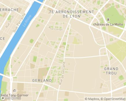 Localisation Korian Gerland - 69007 - Lyon 07