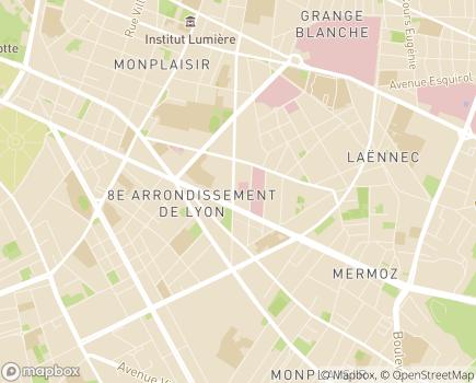 Localisation Clinique de Soins de Suite et de Réadaptation - IRIS - 69008 - Lyon 08