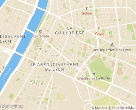 Localisation EHPAD Résidence Atlantis Groupe Hermes Santé - 69007 - Lyon 07