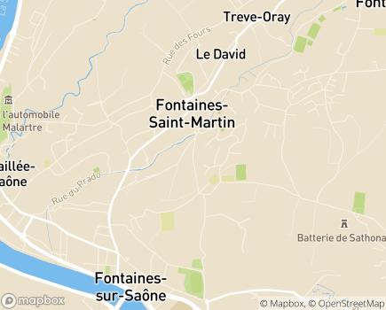 Localisation Korian La Fontanière - 69270 - Fontaines-Saint-Martin