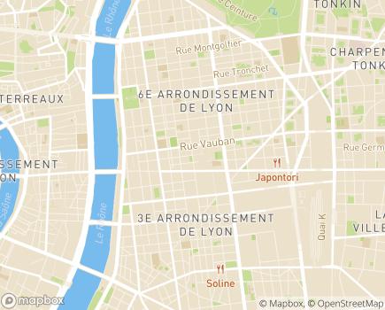 Localisation Résidence Hespérides Brotteaux - 69006 - Lyon 06