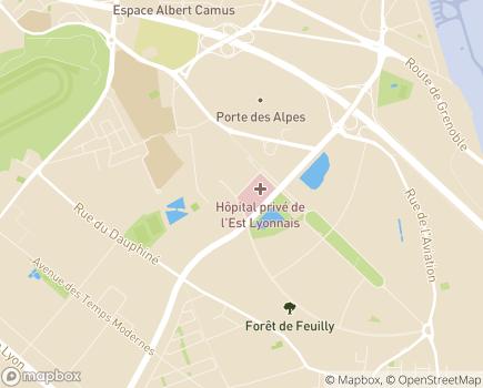 Localisation Clinique de Soins de Suite et de Réadaptation - IRIS - 69800 - Saint-Priest
