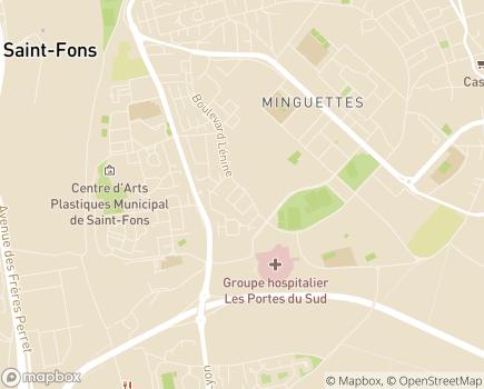 Localisation SESSAD Emmanuel Gounot - 69200 - Vénissieux