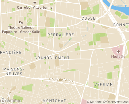 Localisation Planet Santé - 69100 - Villeurbanne