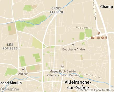Localisation EHPAD Résidence Joseph Forest (Réseau Oméris) - 69400 - Villefranche-sur-Saône