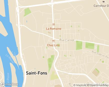 Localisation Accompagnia Dom - 69190 - Saint-Fons