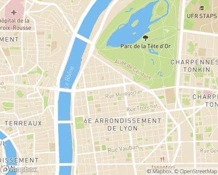 Localisation Vivaservices Rive Gauche - 69006 - Lyon 06