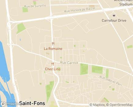 Localisation Korian Le Hameau de la Source - 69190 - Saint-Fons